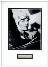 Amelia Earhart Autograph Signed Display